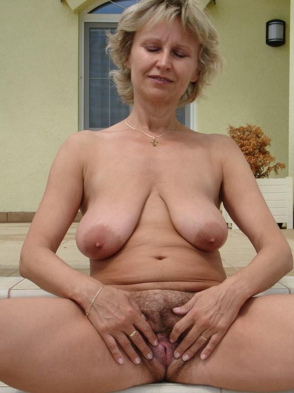 bushed granny Naked